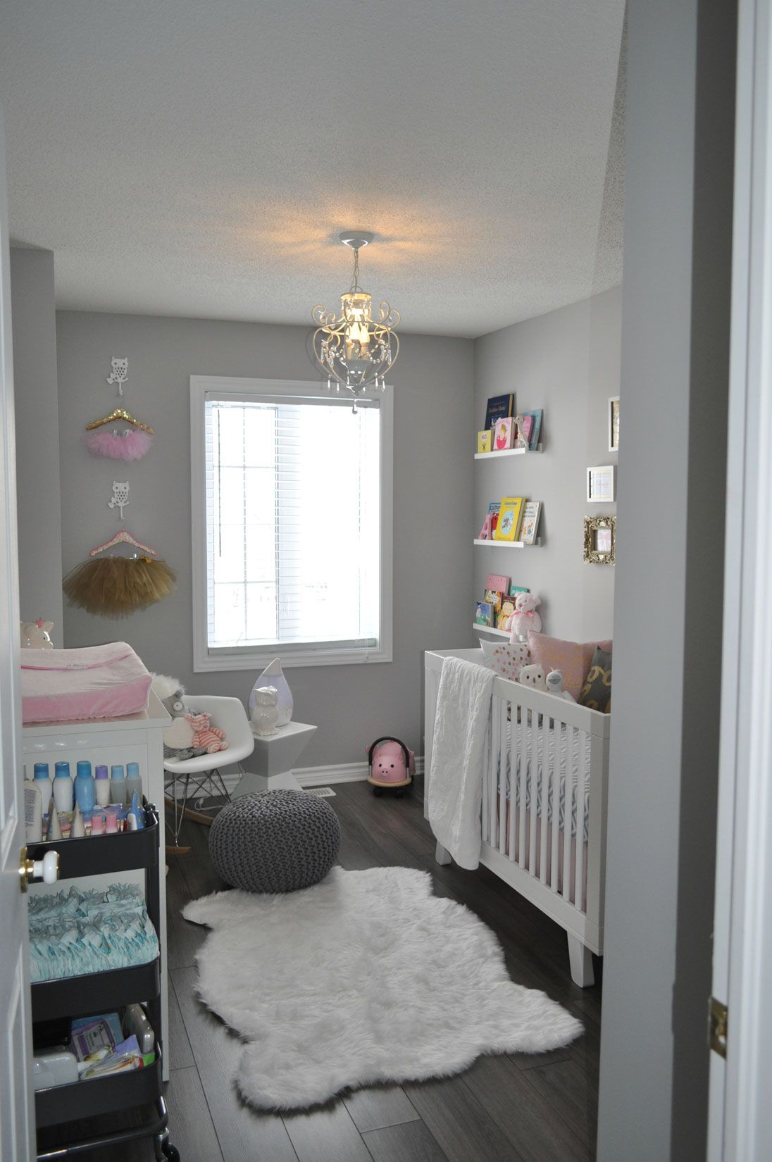 Furry Baby Bedroom: Decor Inspiration: A Pink, Gold, And Grey Nursery For A