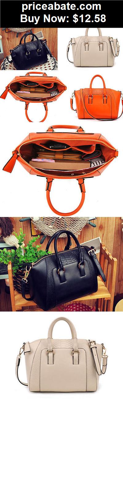 Women-Handbags-and-Purses: Fashion Women Handbag PU Shoulder Messenger Bag Women Satchel Tote Purse Bags - BUY IT NOW ONLY $12.58