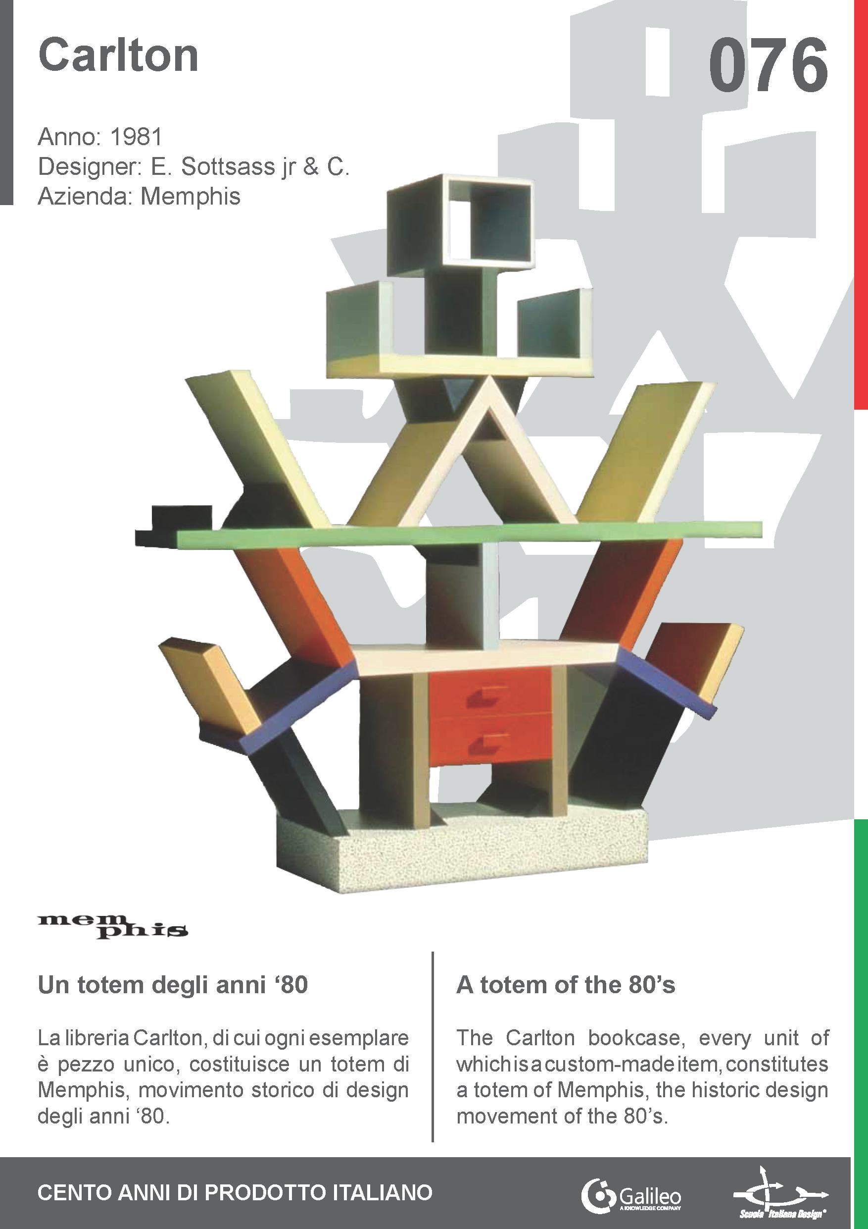 Carlton by Ettore Sottsass jr & C. for Memphis (1981) #bookcase #libreria #furniture #arredo