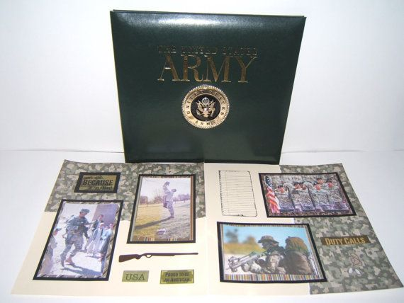 Army Scrapbook Album Premade 12 By 12 Ready For Your 4 By 6 Photos