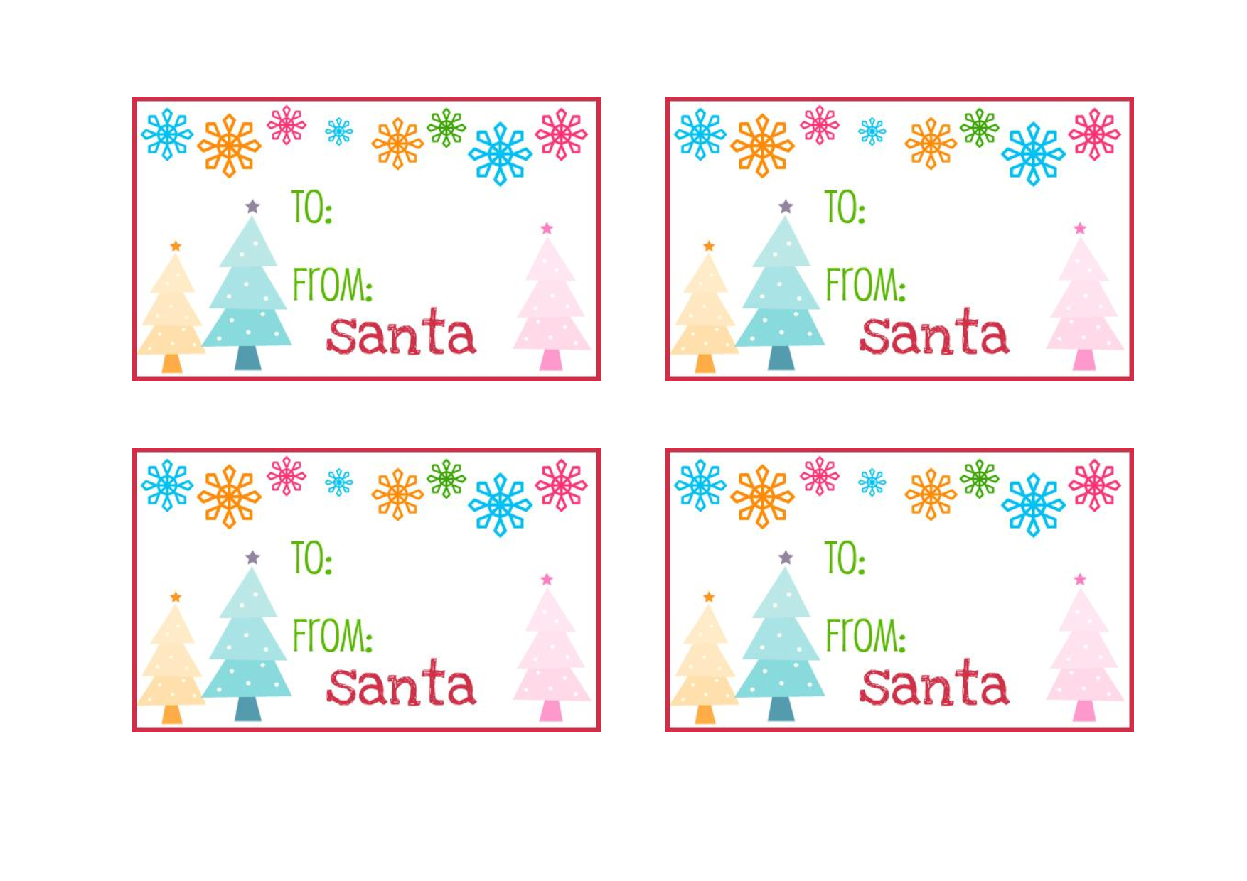 free printable gift tags from santa personalized juve