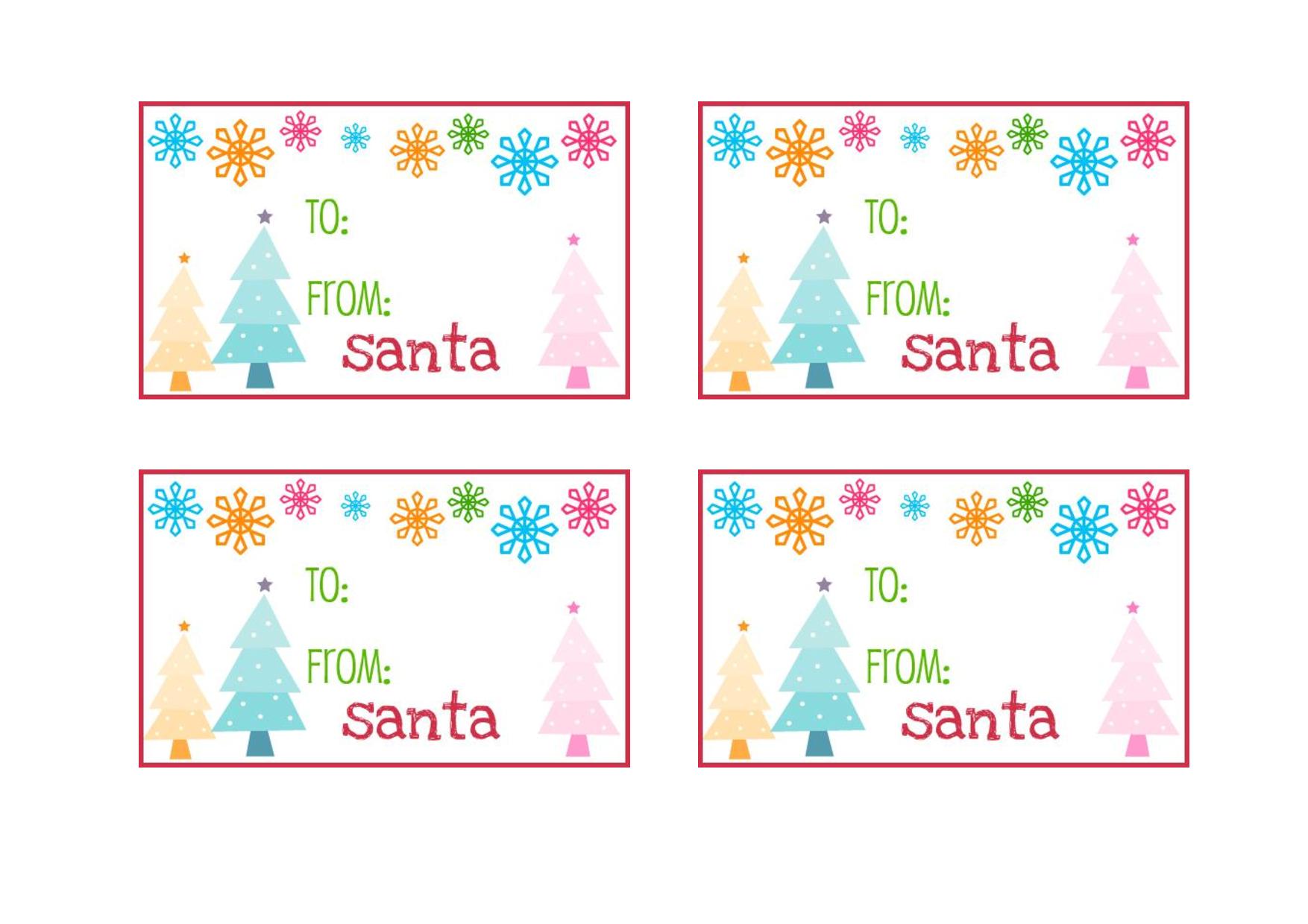 To From Santa Claus Gift Tag Red Santas Workshop Gift Tag 5pk