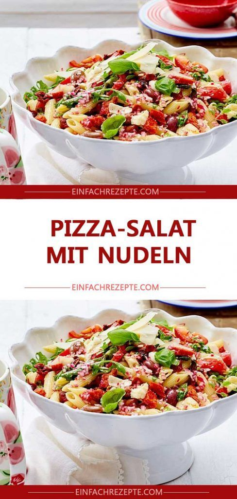 Photo of Pizza salad with pasta 😍 😍 😍