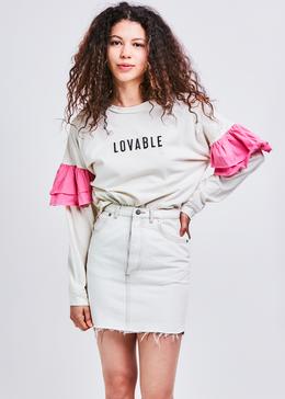 Bumble Denim Mini Skirt