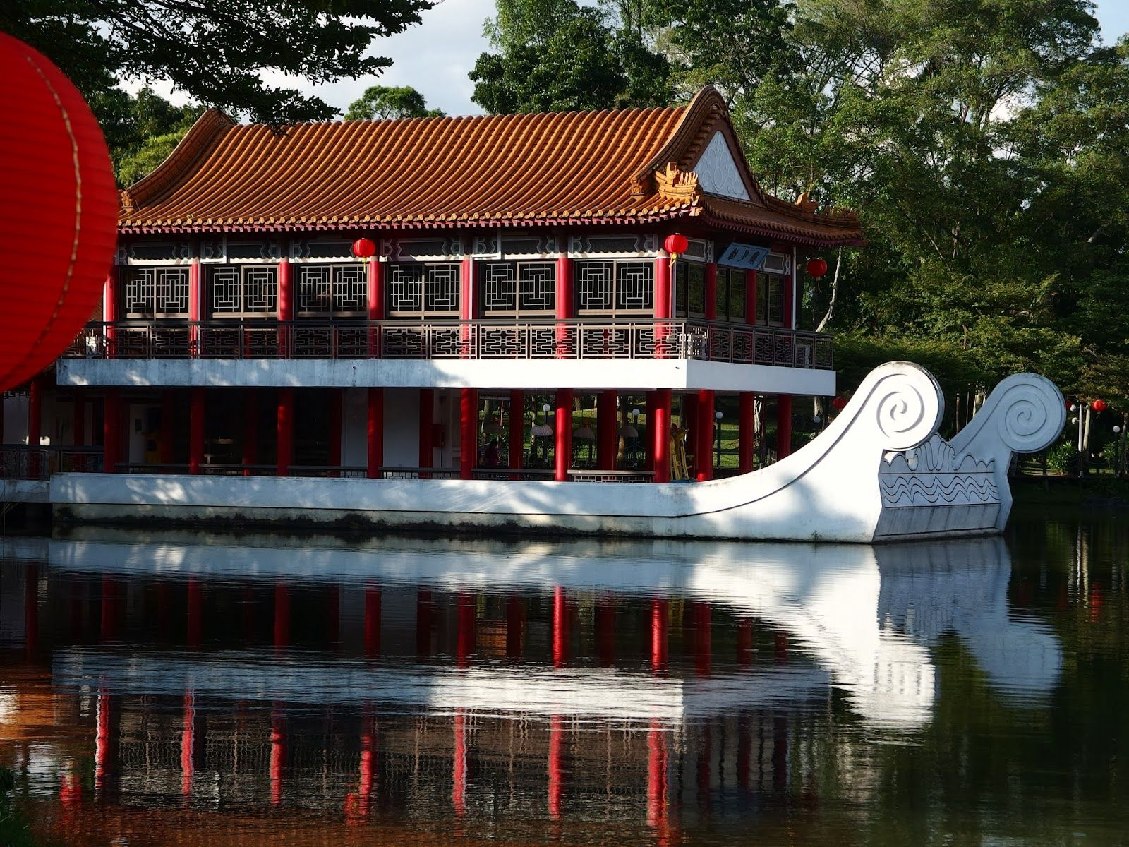 Fabulous Stone boat in the Chinese Garden