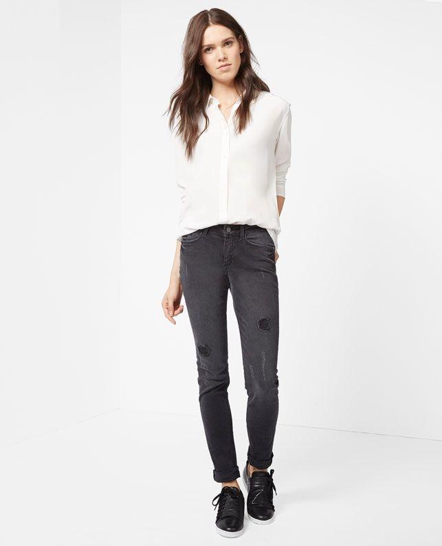 Silk blouse VAURENT - Colour OFF WHITE