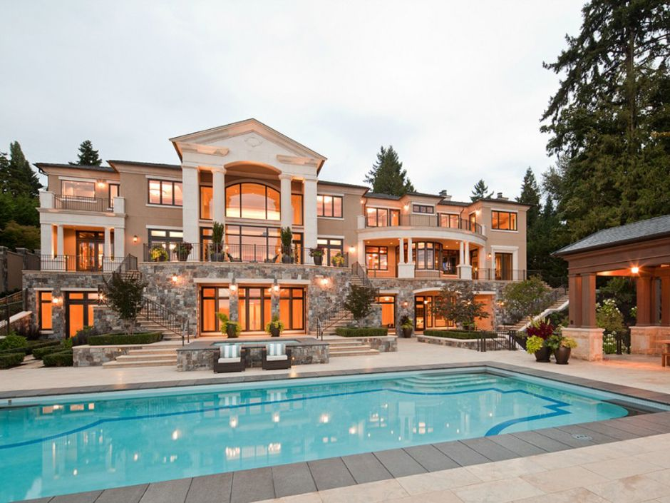 house of the day an 189 million mansion on mercer island with a private beach - Big Mansions With Pools On The Beach