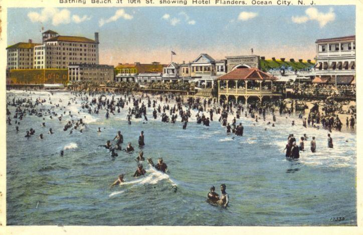 Flanders Hotel Ocean City Nj Early 1900s Ocean City Nj Ocean City Ocean