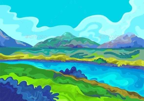 landscape vector illustration vector illustration illustration landscape illustration landscape vector illustration vector