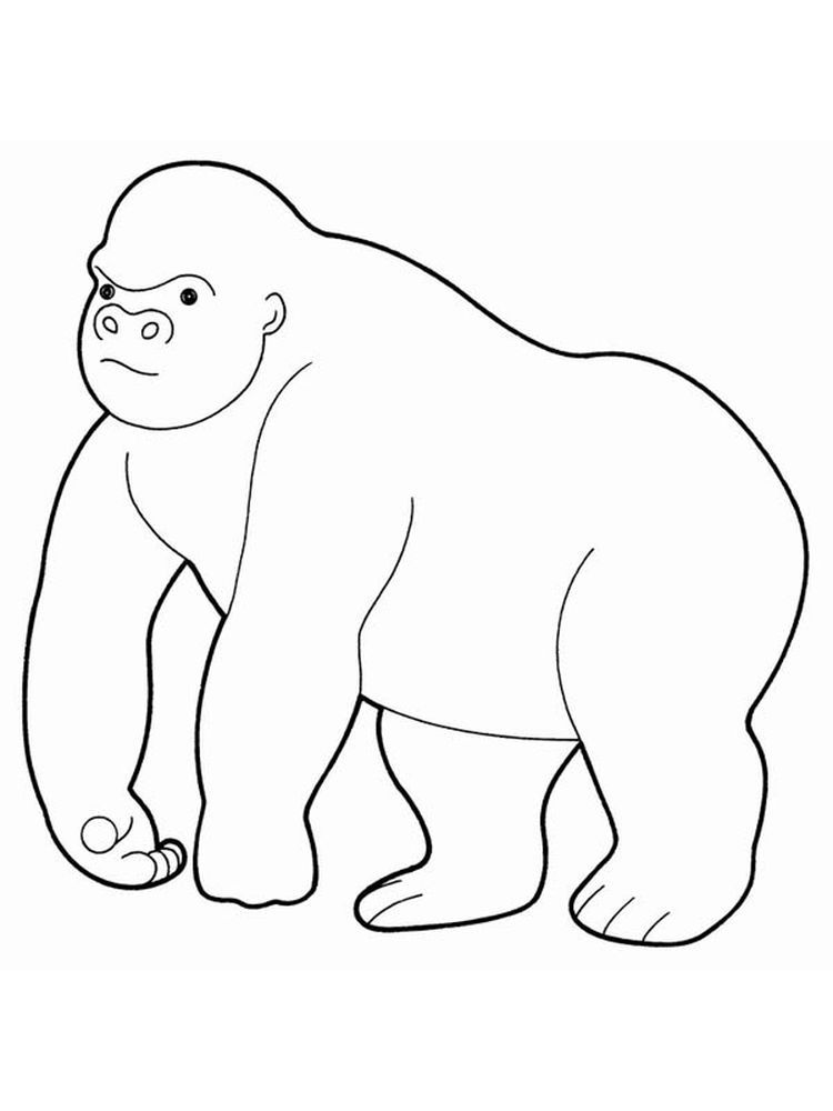 Cute Gorilla Coloring Pages The Gorilla Is The Second Species After The Chimpanzee Is Closest To Humans Animal Coloring Pages Coloring Pages Eastern Gorilla