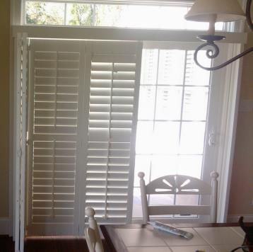 Plantation Shutters For Sliding Doors Drapery Crafters