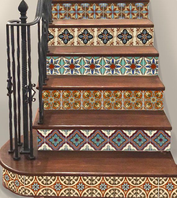 Carved Wood Stair Risers Stair Ideas Stamped Leather: 15steps Stair Riser Vinyl Strips Removable Sticker Peel
