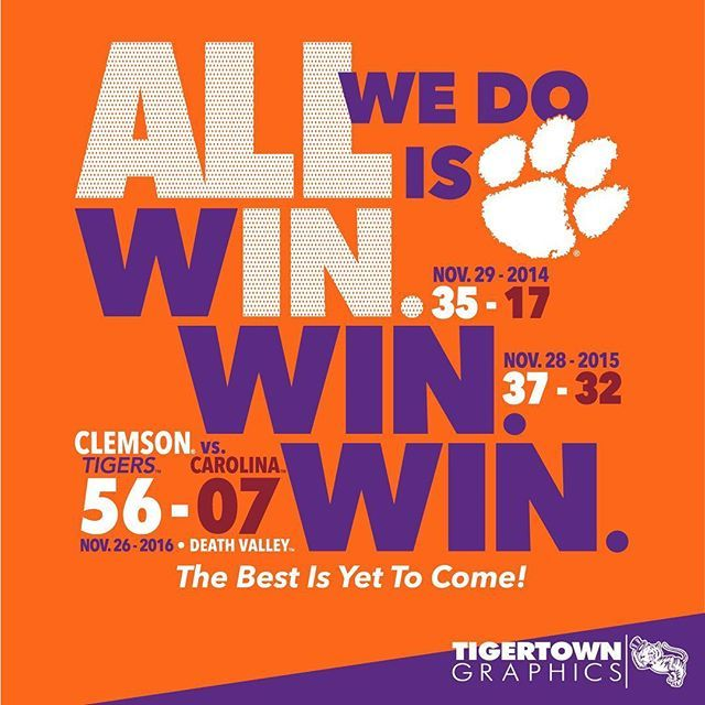 Tigers Win We Own This State Score Shirts Will Be Available In Store And Online On Monday Clemson Tigers Football Clemson Football Players Clemson Tigers