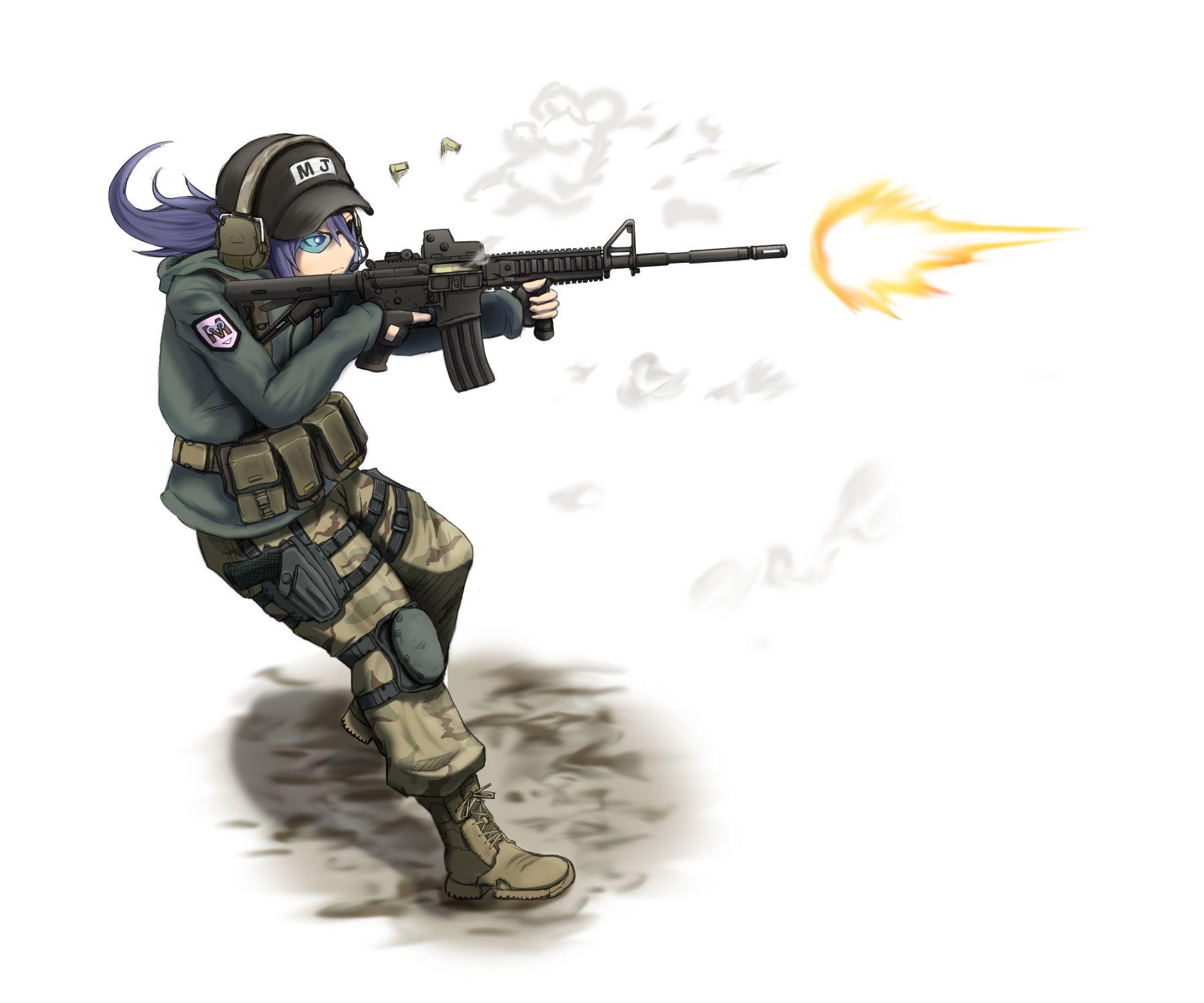 Anime Original Wallpaper Anime military, Anime weapons