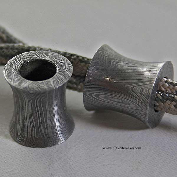 Damascus lanyard bead edc lanyard beads pinterest for Knife lanyard ideas
