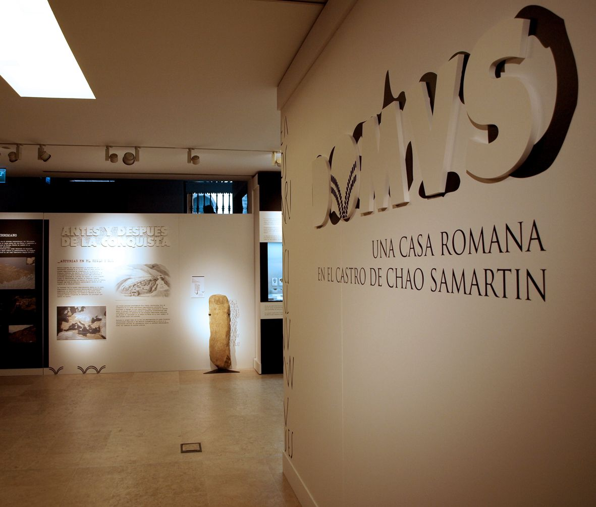 """DIRECCIÓN ARTE EXPOSICION """"Domus, una casa romana en el castro Chao Samartín"""", en el Museo Arqueológico de Asturias"""