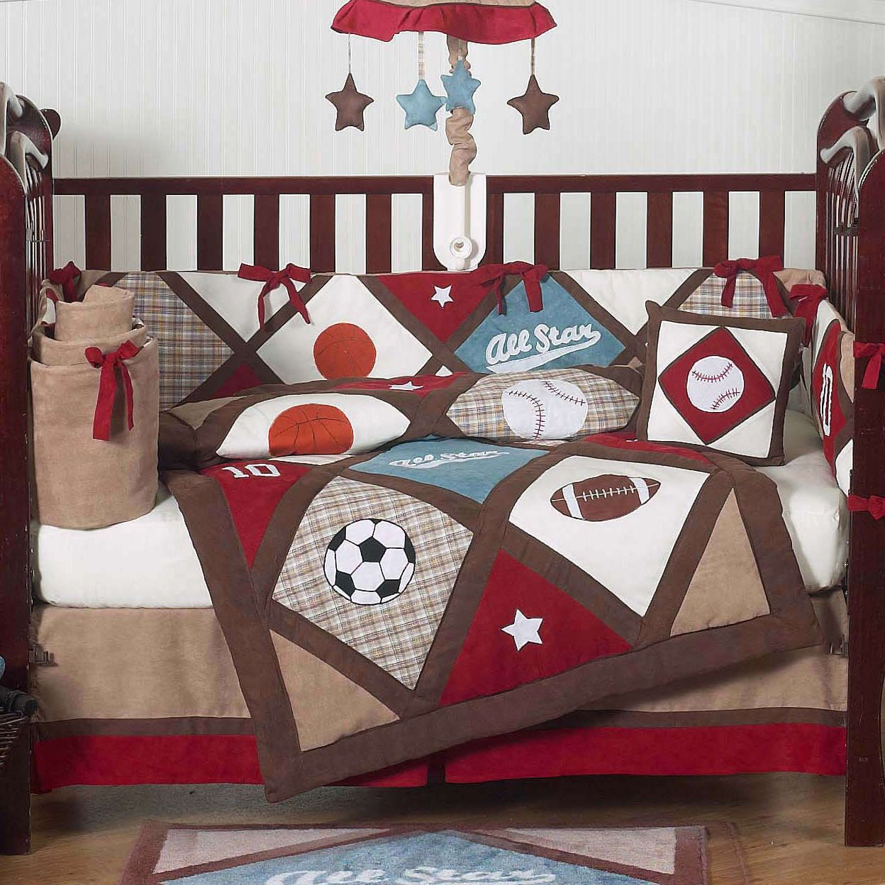 Vintage Sports Bedding Baby Room Sports Baby Crib