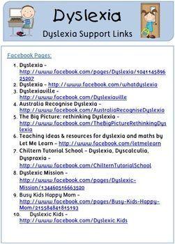 FREE Dyslexia Resource Links | Education | Dyslexia teaching ...