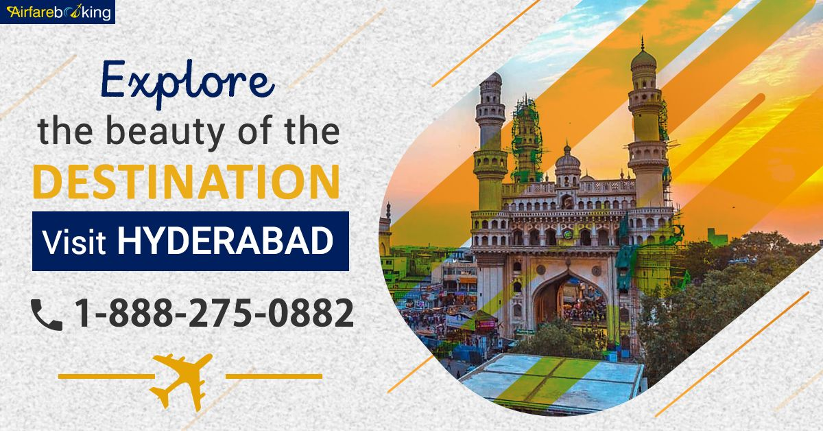 Explore the beauty of Hyderabad! Visit top tourists destination in Hyderabad at discounted airfare. Book your flight now!   For more information call us at- 1-888-275-0882 (Toll-Free). Or, click the link in bio @airfarebooking.  #cheapflights #Flightstohyderabad #bestplace #Vacation #destinations #flightbookingonline #tours #toursandtravelism #traveltips #travelling #Travel #VisitHyderabad #travelNow