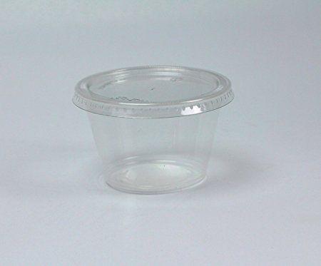 39be68a3306 Disposable 4oz Plastic Condiment Cups with Lids, Souffle Portion ...
