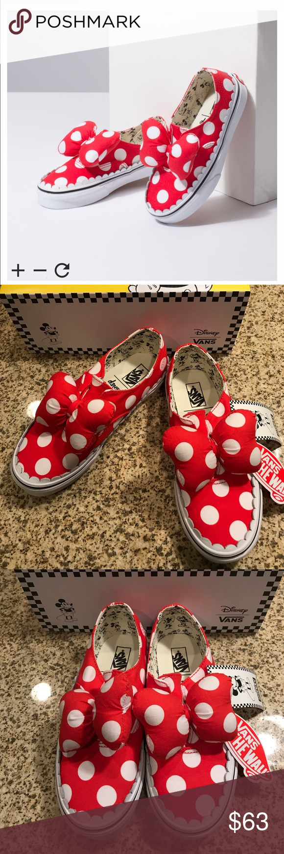 2d0a5c471a Disney vans size 2 girls Minnie Mouse sold out new Disney vans sneakers new  in box