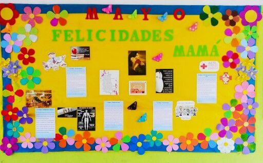 Peri dico mural mayo d a de las madres escuela for El periodico mural