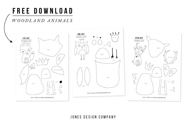 image about Free Printable Woodland Animal Templates named artwork in opposition to artwork (woodland pets + templates) Do it yourself Animal