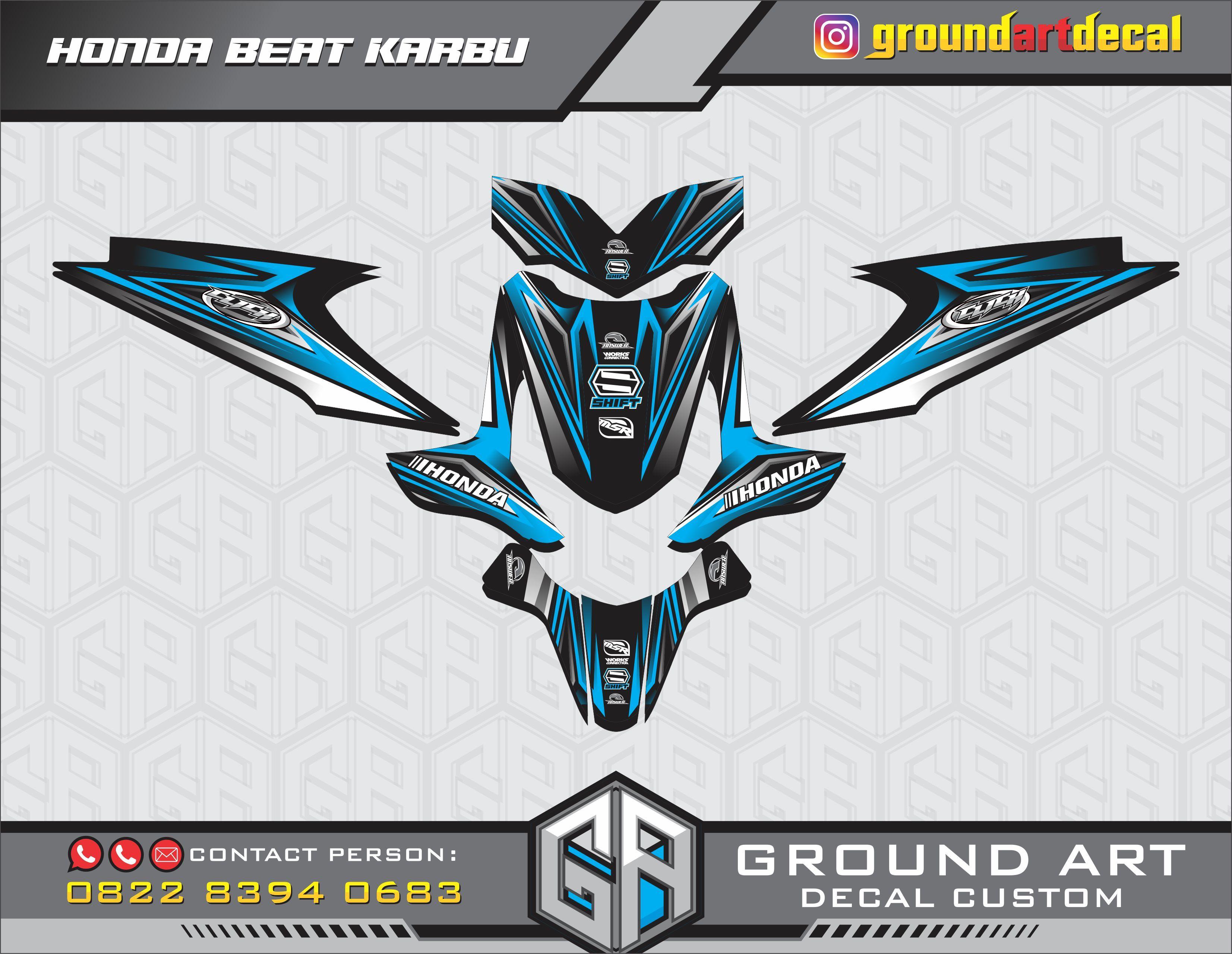 Honda Beat Decal Custom Motocross Bikes Custom Decals