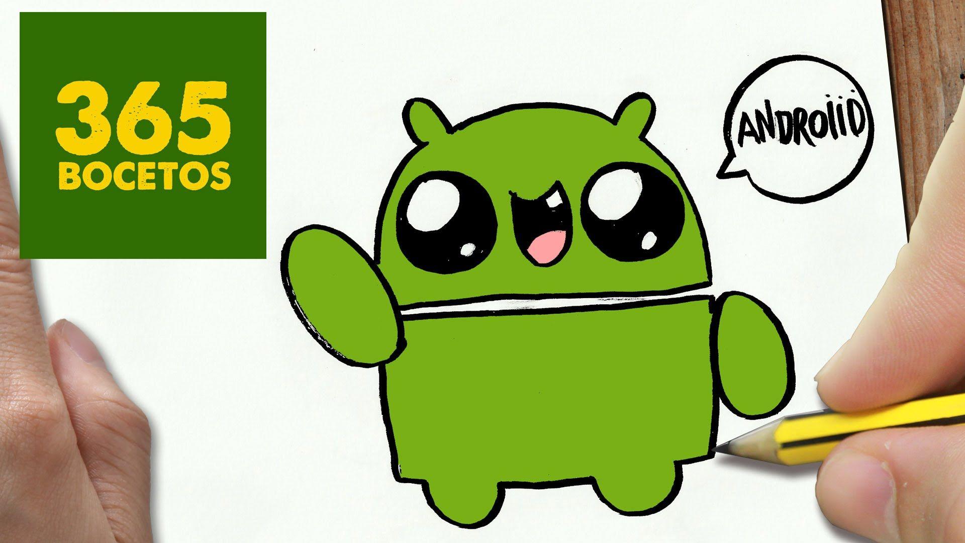 Como Dibujar Logo Android Kawaii Paso A Paso Dibujos Kawaii