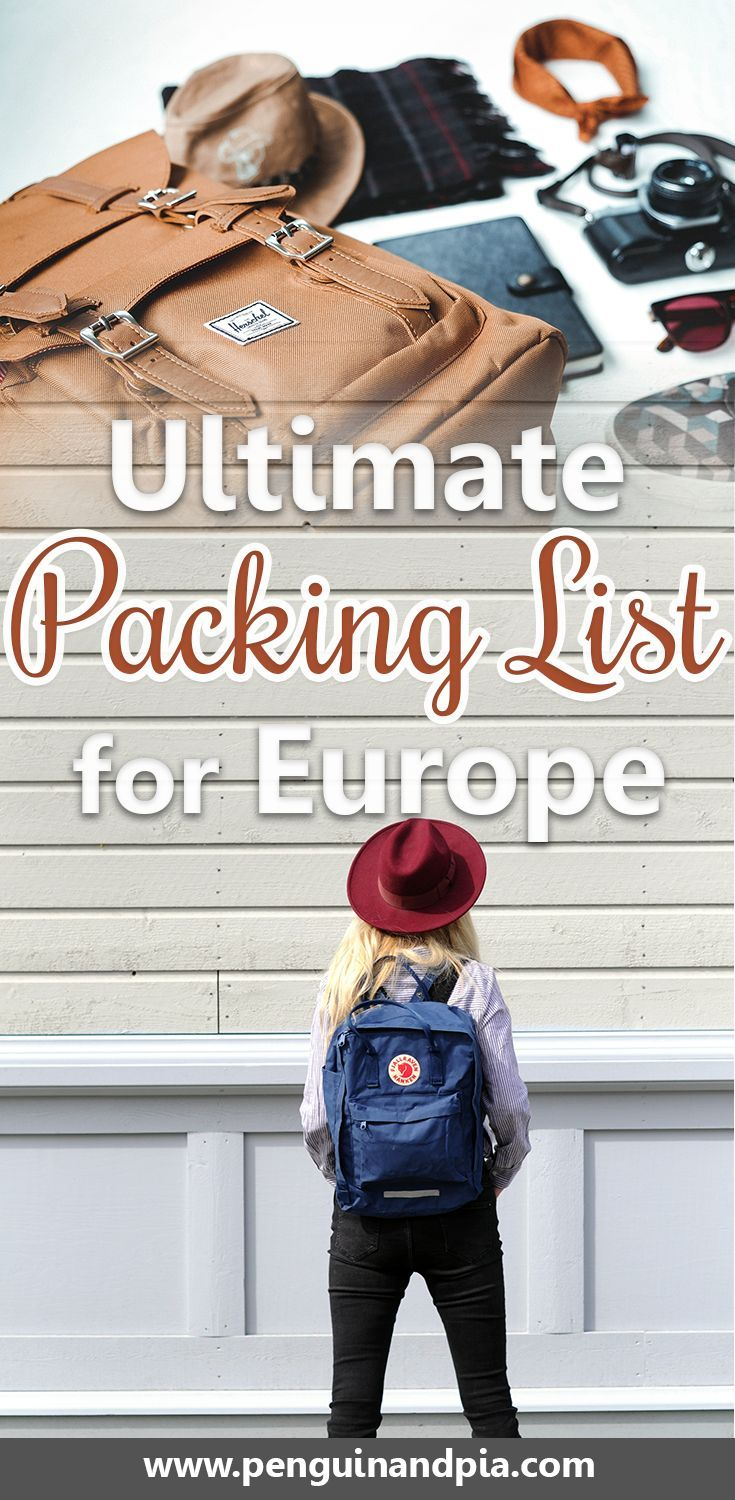the ultimate packing list for europe whether you plan a backpacking trip a road trip or a more luxurious vacation there are some things you just have to