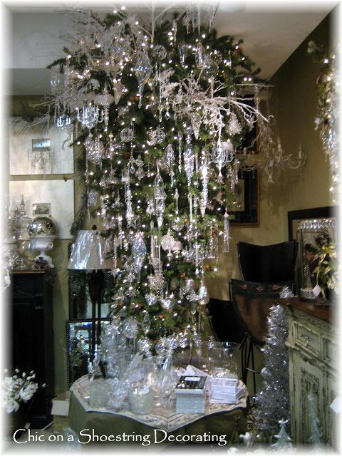 Dripping In Christmas Ey Bling Upside Down Christmas Tree Christmas Tree Themes Christmas Tree
