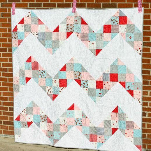 Free Charm Pack Quilt Patterns U Create Pinterest Chevron