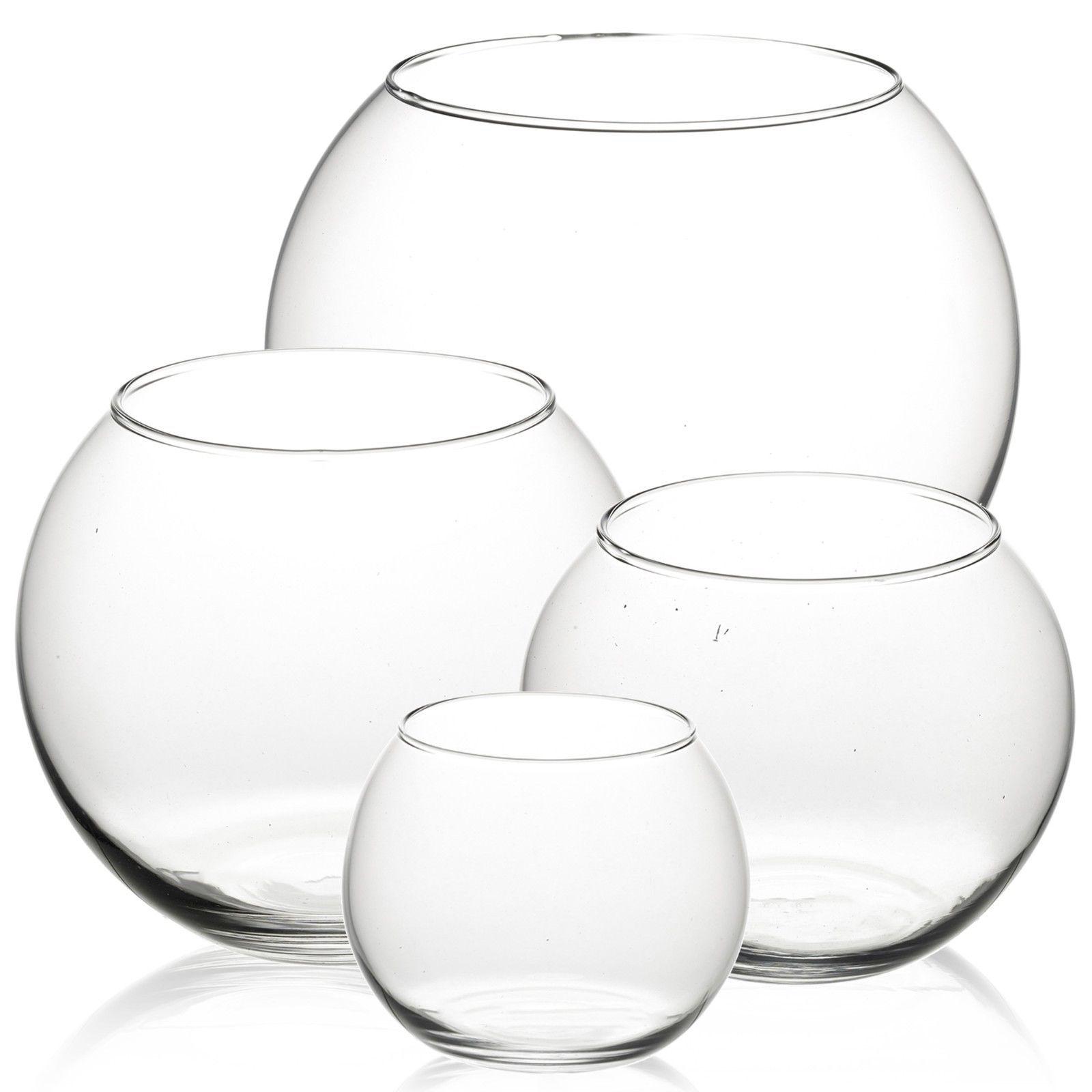 Pasabahce Round Glass Flower Vase Fish Bowl Balloon Centerpiece ...