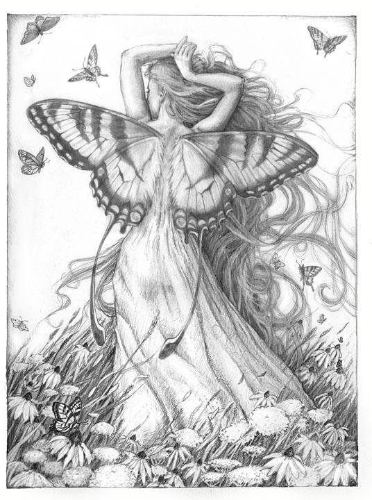 Summer by Renae Taylor | Hada, Dibujo y Colorear