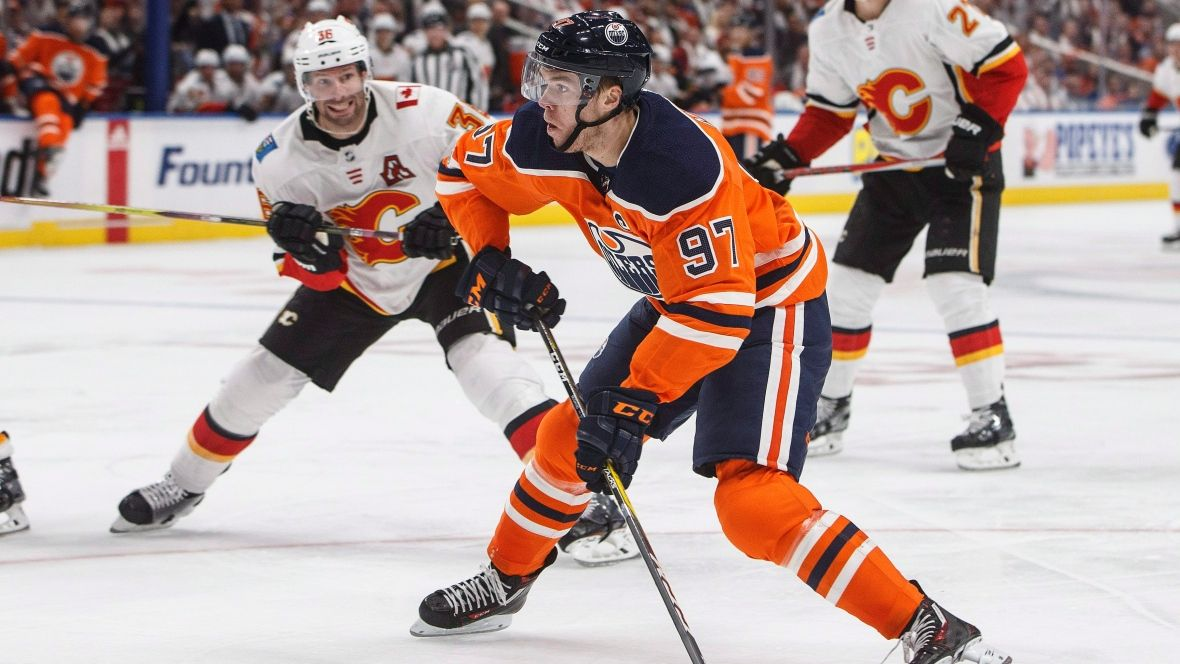 awesome McDavid's hat trick puts out Flames on opening