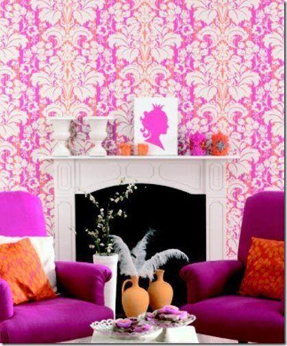 I have a secret plan for decorating my new abode... Magenta, Orange ...