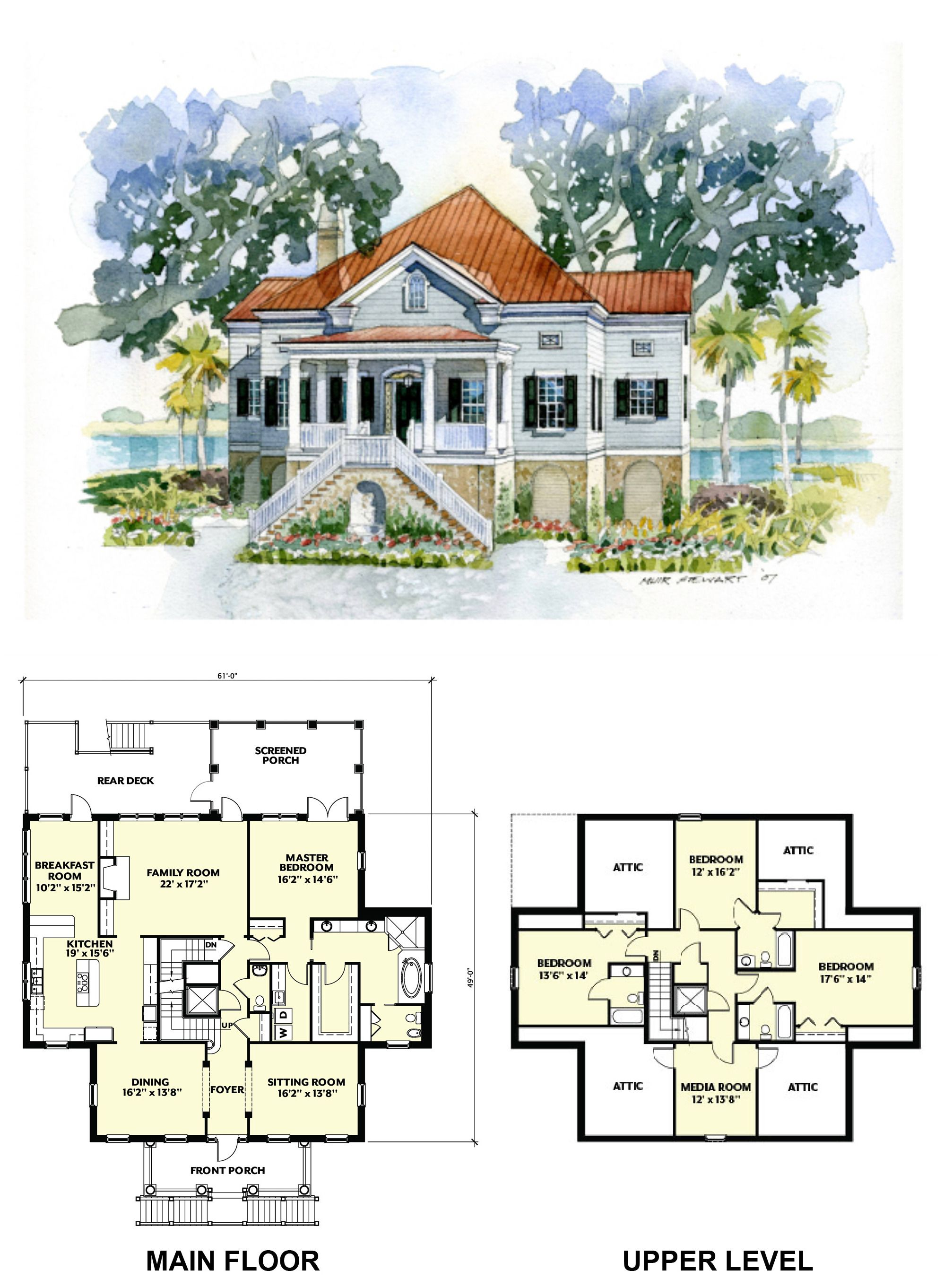 House Plan Of The Month Lowcountry Cottage House Plans House Layouts Coastal House Plans