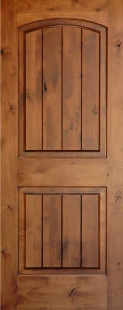 Knotty Alder | Knotty Alder Arch 2 Panel Doors With V Grooves | Homestead  Doors