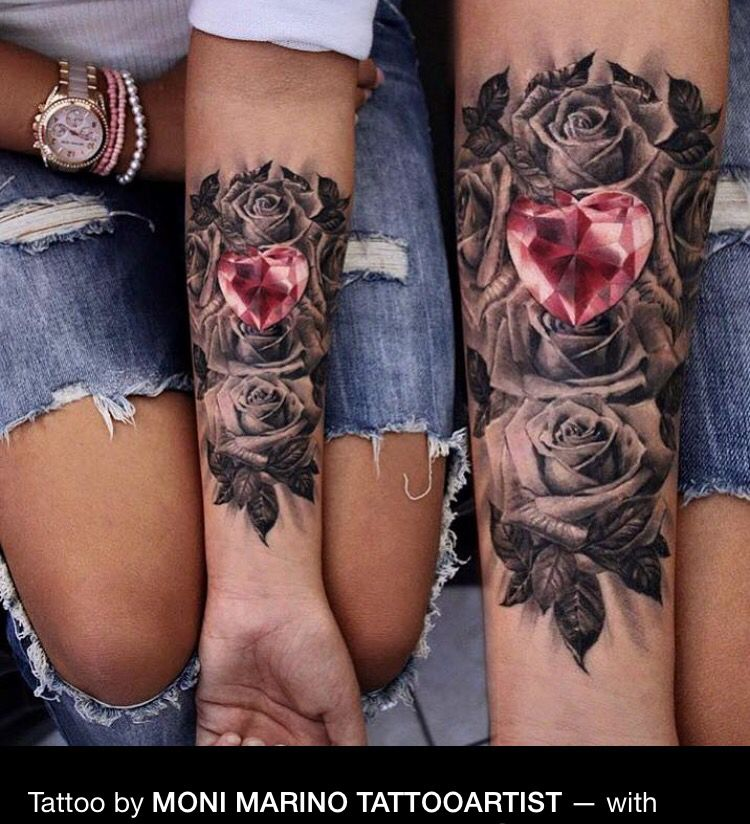 Black Roses And Heart Jem By Moni Tattoos Tatouage Tatouage