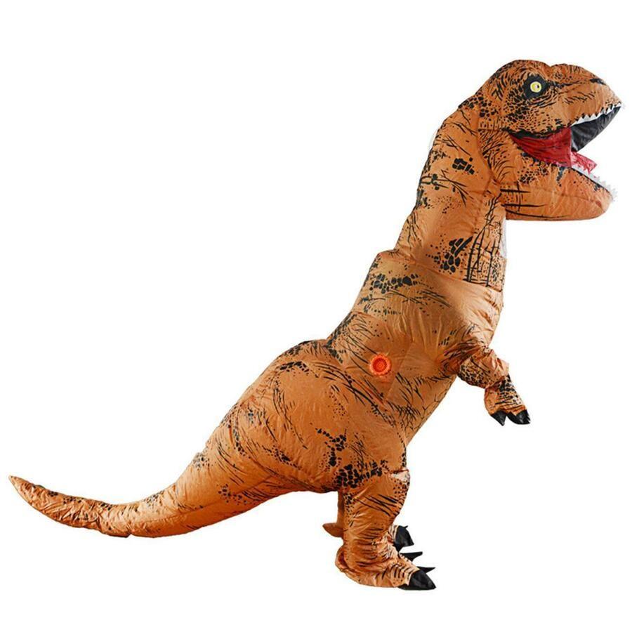 Inflatable Dinosaur Costume T Rex Fancy Dress Kid Halloween Blow Up Suit