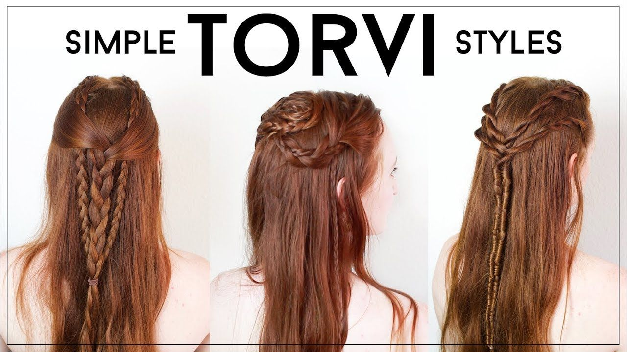 Simple And Wearable Everyday Torvi Braids From Vikings Youtube Viking Hair Hair Styles Womens Hairstyles