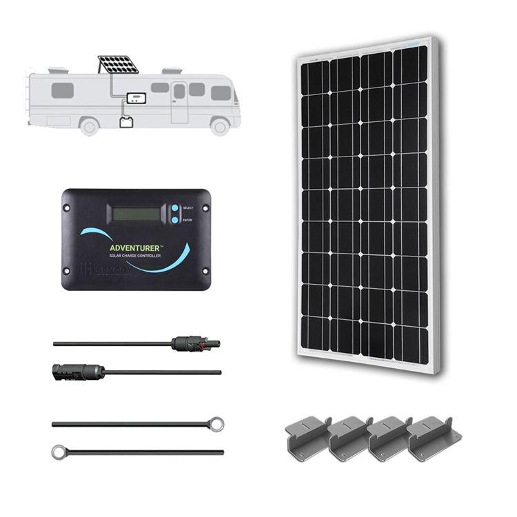 100 Watt 12 Volt Solar Rv Kit Por Do Sol