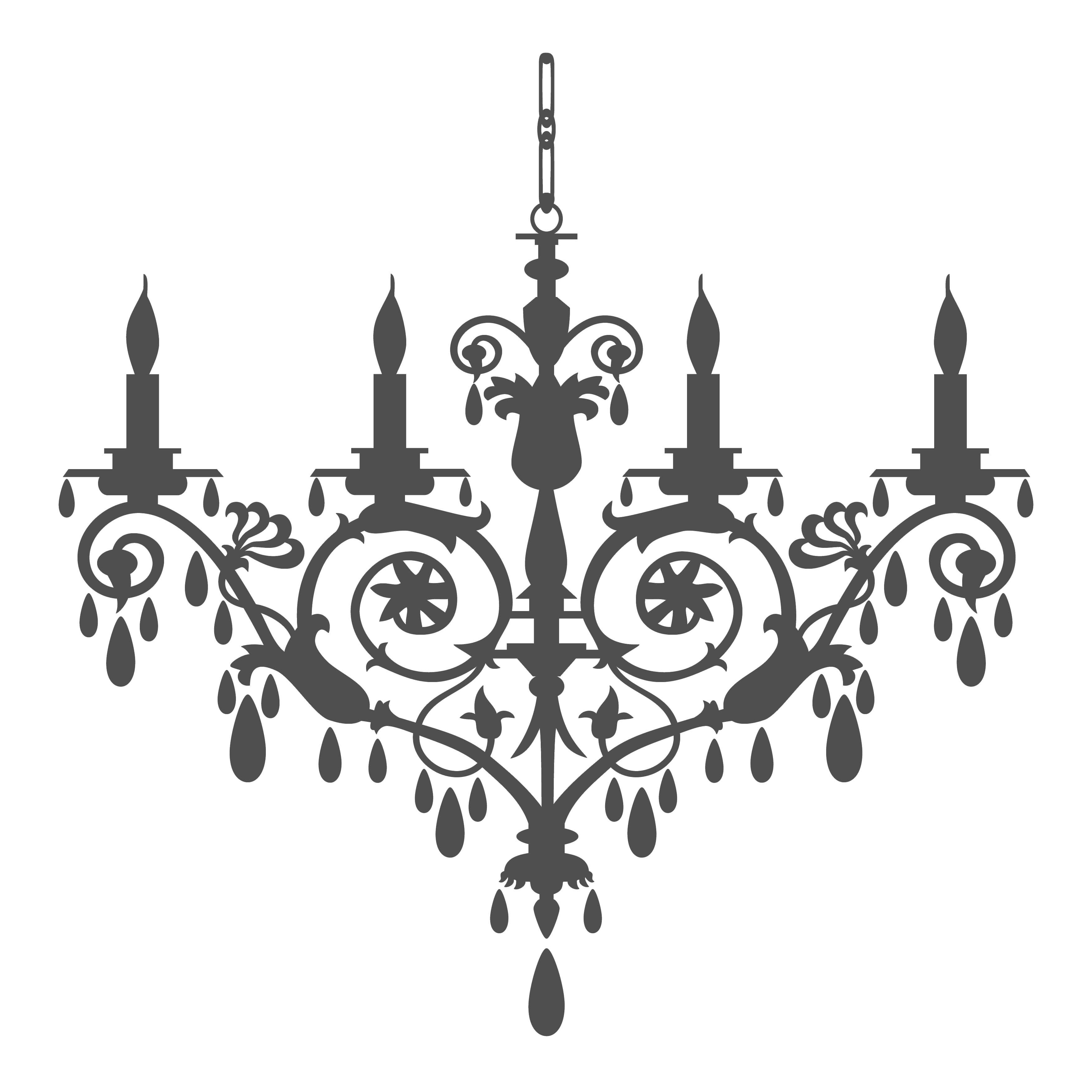 Kroonluchter 2 formaten 22 kleuren kleinfijn op canvas retro chandelier silhouette by ela kwasniewski via dreamstime mozeypictures Images