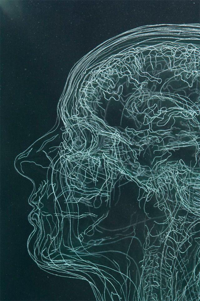MRI Self Portraits by Angela Palmer