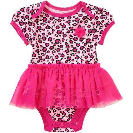 6ff9894e15ac Garanimals Newborn Baby Girl Print Body Tutu Bodysuit - Walmart.com ...