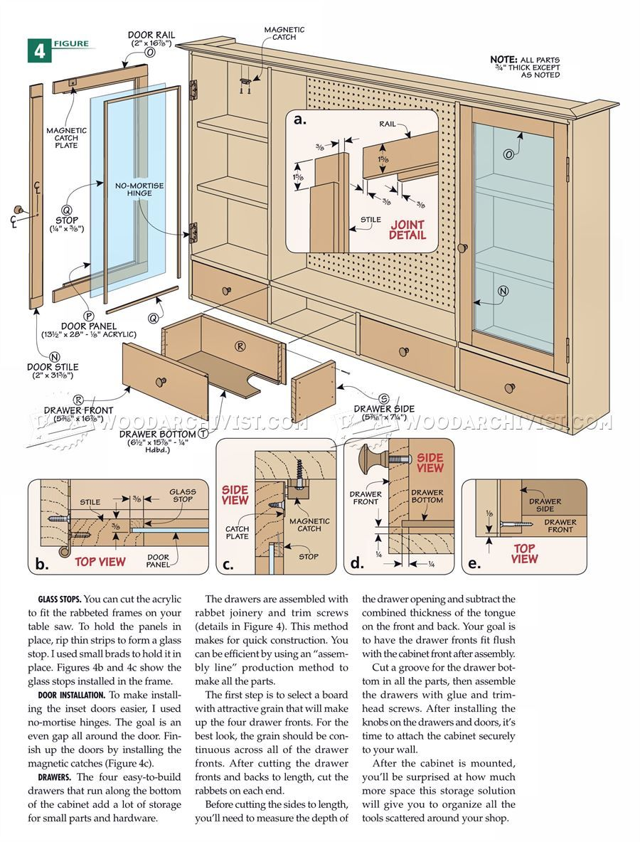 273 Pegboard Tool Cabinet Plans Workshop Solutions