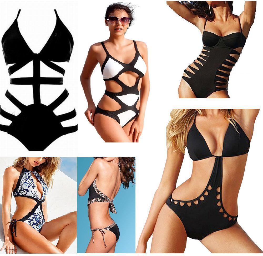 1fe085b562 UK Sexy Womens One-Piece Swimwear Push Up Monokini Bikini Beach Padded  Swimsuit