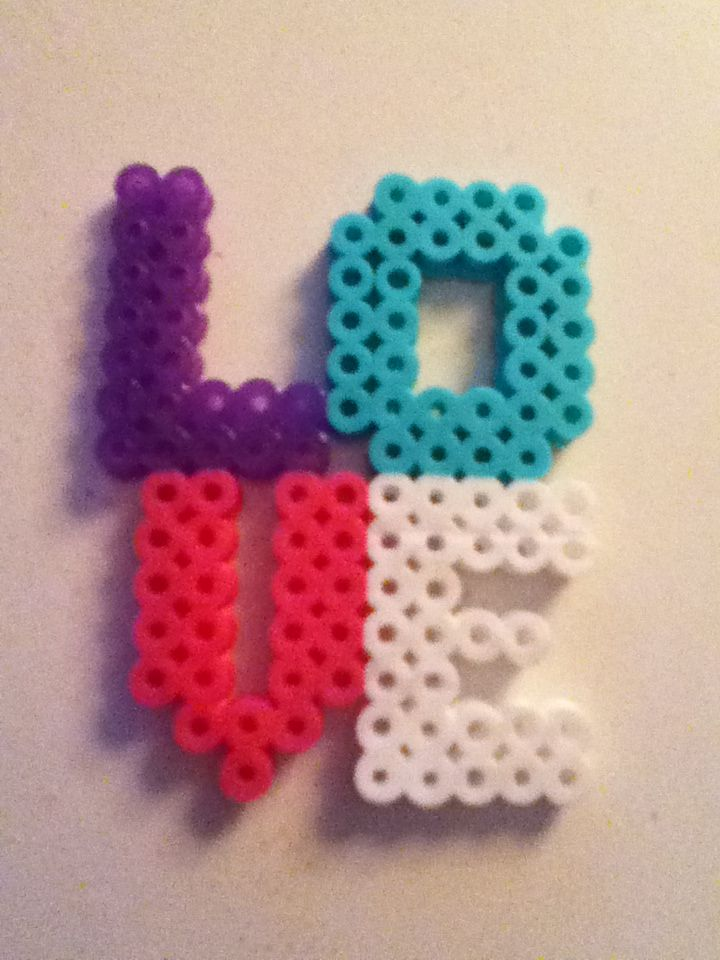 Perler Bead LOVE by Yinlizzy on deviantart | DIY and ...