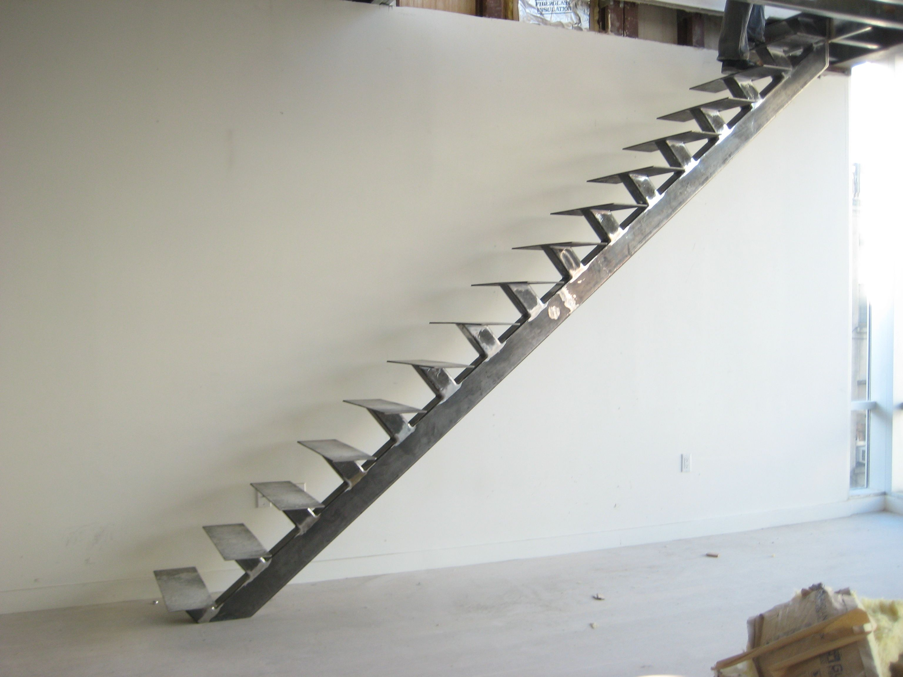 Splendid Fabrication Staircase Design From Steel Materials ...