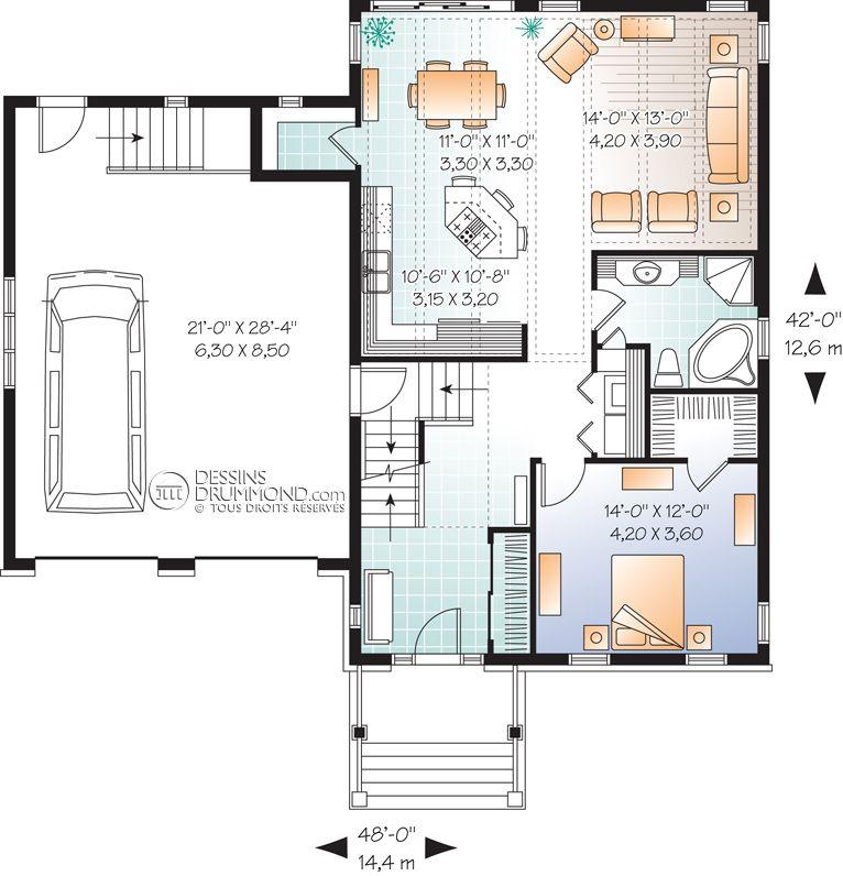 Classique W3611 Maison Laprise - Maisons pré-usinées ma toute - plan petite maison plain pied